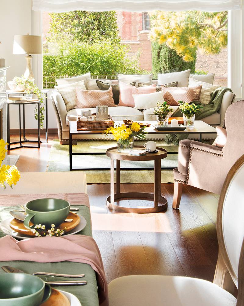 coton et bois sillas mesas